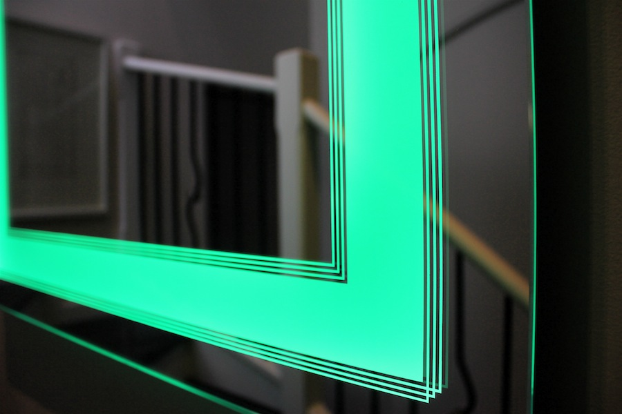 13 art deco light mirror lighted led colour changing wall mirrors