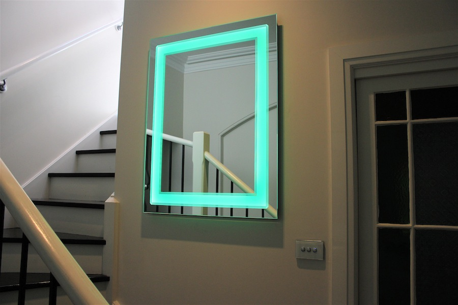 Art Deco Bathroom Lighted Mirror Clearlight Designs