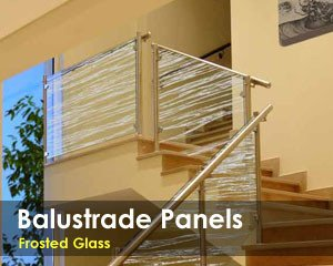 Frosted Glass Balustrade Panels