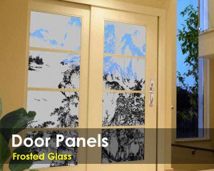 Frosted Glass Door Panels