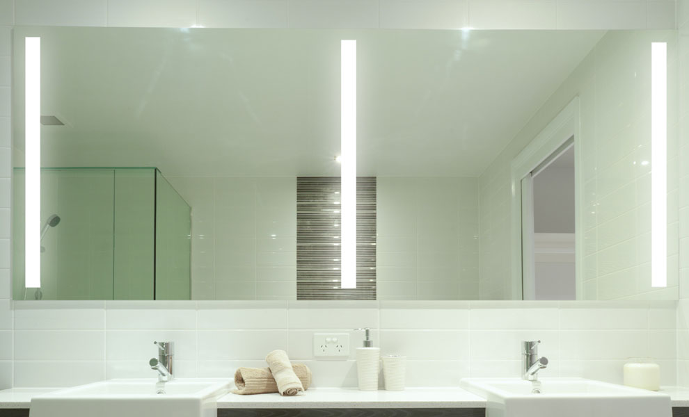 Perfect Bathroom Mirror With Vertical Side Lights  Mirror Mirror On The