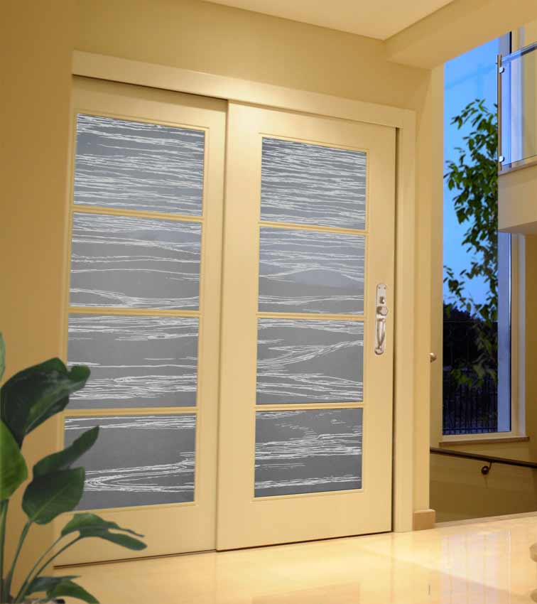 Frosted glass door panels clearlight designs for Glass panel design