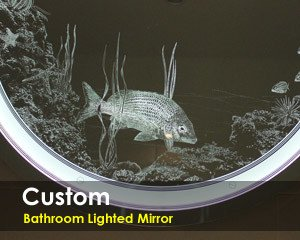 Custom Bathroom Lighted Mirror