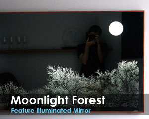 Moonlight Forest Feature Illuminated Mirror