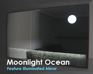 Moonlight Ocean Feature Illuminated Mirror