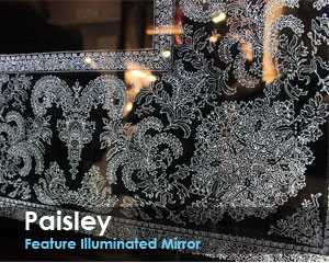 Paisley Feature Illuminated Mirror