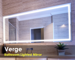 Bathroom lighted mirror with led lights clearlight designs aloadofball Choice Image