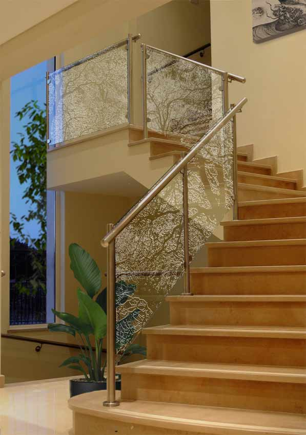 frosted glass balustrade panels clearlight designs. Black Bedroom Furniture Sets. Home Design Ideas