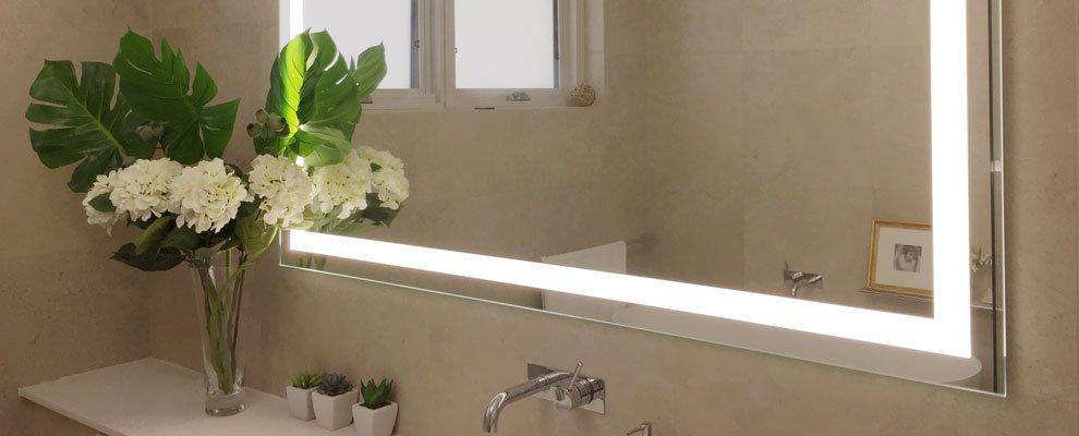 The Verge Bathroom Lighted Mirror in a Bathroom in Sydney