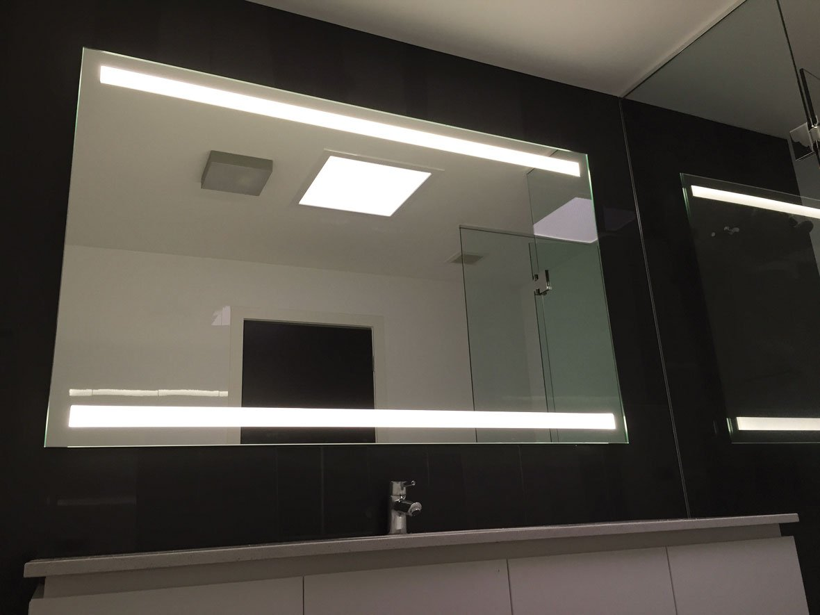 bathroom wall mirrors with lights equality bathroom lighted mirror vanity led by 22578 | Equality clearlight designs bathroom illiummiated lighted mirror