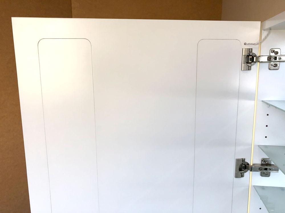 Cabinet Bathroom Lighted Mirror inside door view