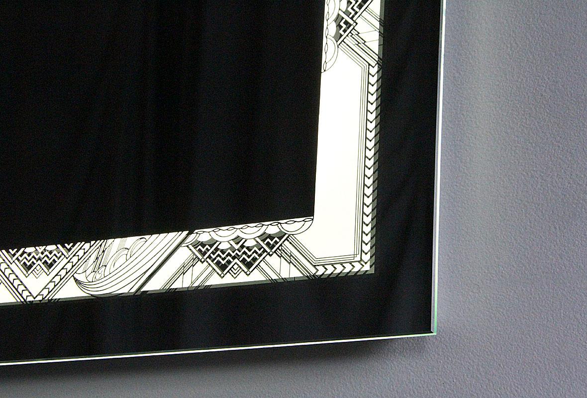 NYC Art Deco Bathroom Lighted Mirror