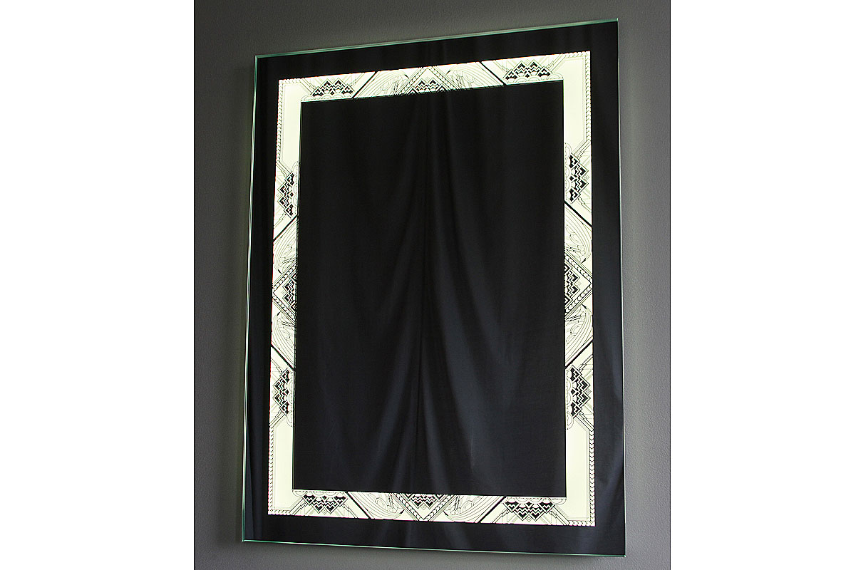 NYC Bathroom Lighted Mirror full size view