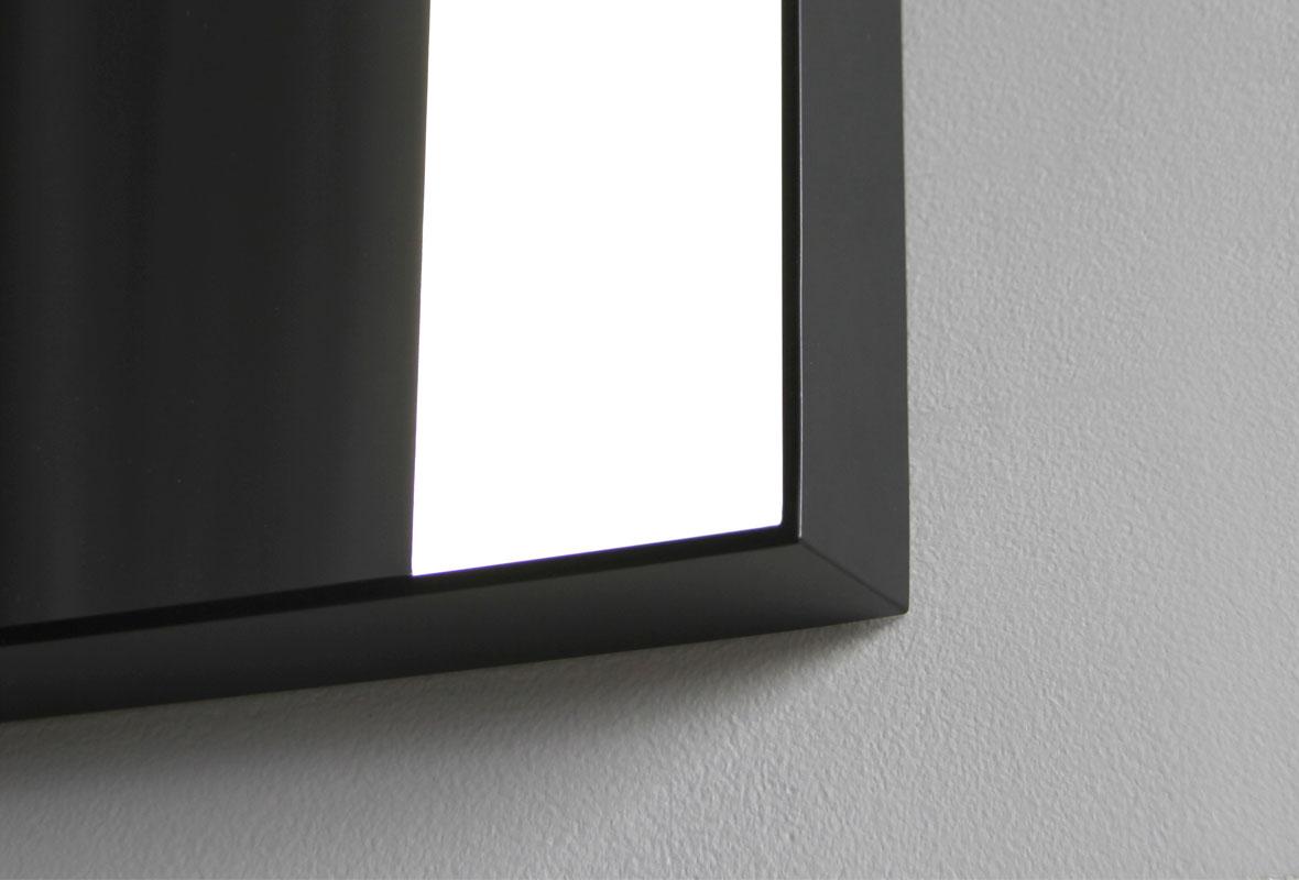 Weston lighted bathroom mirror corner view
