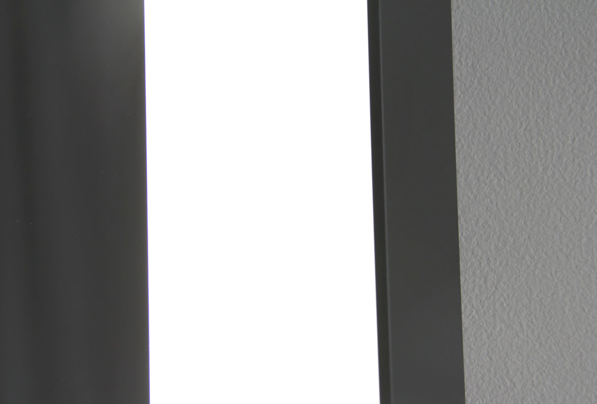 Weston lighted bathroom mirror side view