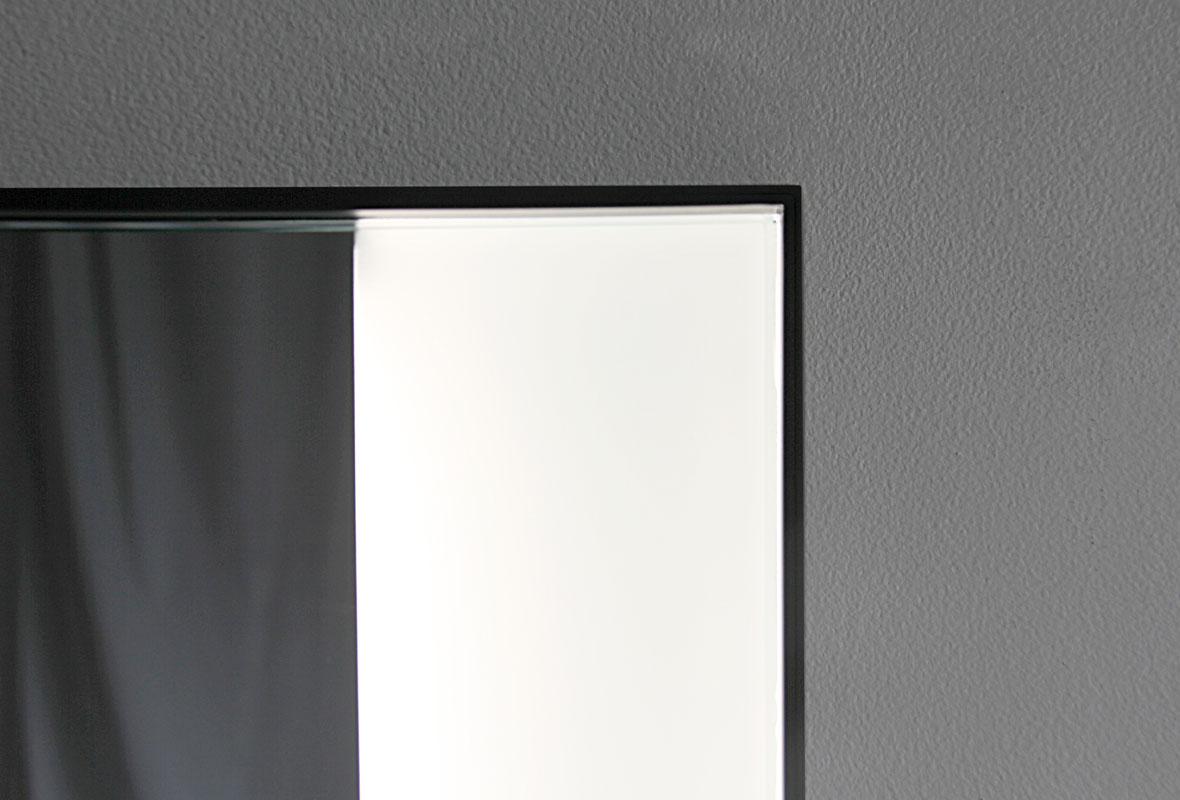 Weston lighted bathroom mirror top corner 3rd view